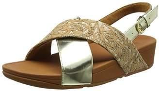 f4569e407dba3 FitFlop Women Lulu Cross Back-Strap Cork Open Toe Sandals
