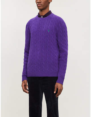 Polo Ralph Lauren Cable-knit wool and cashmere-blend jumper