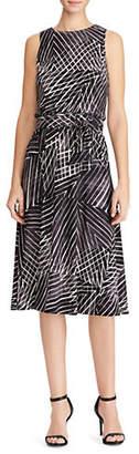 Lauren Ralph Lauren Printed Jersey Fit-and-Flare Dress