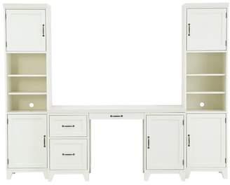 Pottery Barn Teen Hton Desk + Storage Tower Set, Simply White