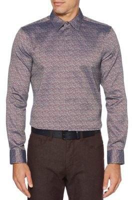Perry Ellis Slim Fit Multi-Colour Button-Down Shirt