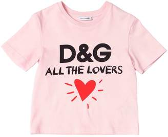 Dolce & Gabbana All The Lovers Cotton Jersey T-Shirt