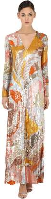 Emilio Pucci Sequined Tulle Long Dress
