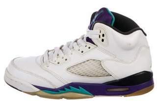 Nike Jordan Boys' 5 Retro Leather Sneakers
