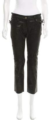 Beau Souci Distressed Leather Pants w/ Tags