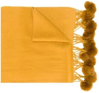 N.Peal fur bobble scarf