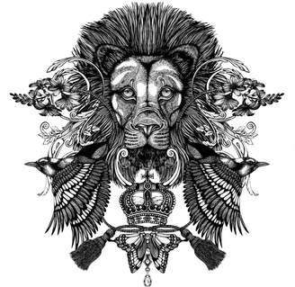 Emily Carter - The Regal Lion Giclée Print A3