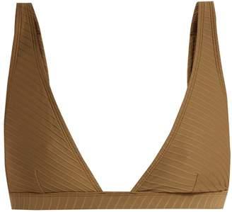 Zimmermann Textured triangle bikini top