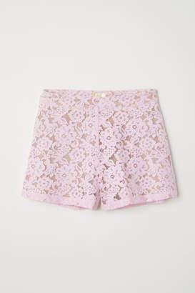 H&M Lace Shorts - Pink