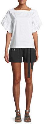 Laundry by Shelli Segal Grommet-Trim Tie Waist Shorts