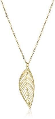TreEsse Italian 10k Gold Leaf Pendant Necklace