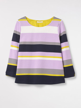 White Stuff Caramel Stripe Jersey Top