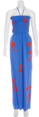 Tory Burch Printed Sleeveless Jumpsuit w/ Tags