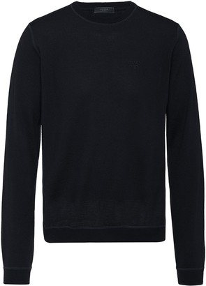 Prada ribbed crew neck sweater