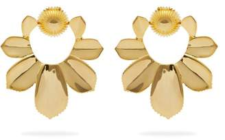 Joelle Gagnard Kharrat - Floral Gold Plated Earrings - Womens - Gold