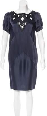 Andrew Gn Cutout Satin Dress