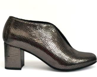 Esska Flask Metallic Anthracite Shoes - 37 / Metallic Anthracite - Silver/Black