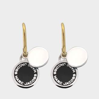 Marc Jacobs Enamel Logo Disc earrings