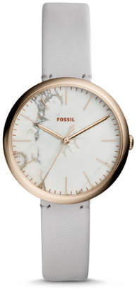 Fossil Annette Three-Hand Mineral Gray Leather Watch