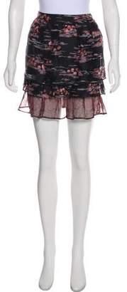 Max & Co. MAX&Co. Silk Printed Mini Skirt