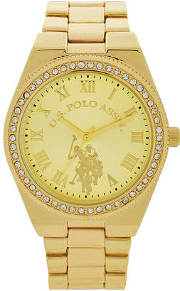 U.S. Polo Assn. USPA Womens Gold Tone Bracelet Watch-Usc40224jc