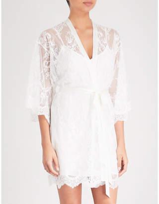 Nk Imode Sheer Delight floral-lace kimono robe