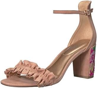Kenneth Cole Reaction Women's Rise Ruffle Strap Open Toe Dress Heeled Sandal