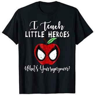 I Teach Super Heroes T Shirt Cute Mom Teacher Shirts