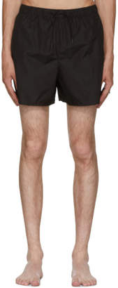 Acne Studios Black Perry Face Swim Shorts