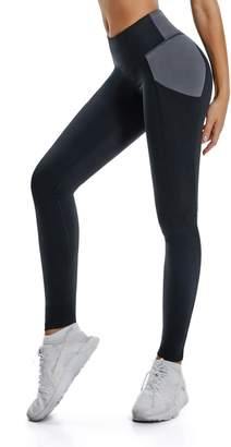 ALONG FIT Yoga Pants for Women Leggings with Side Pockets Yoga Shorts Tummy Control