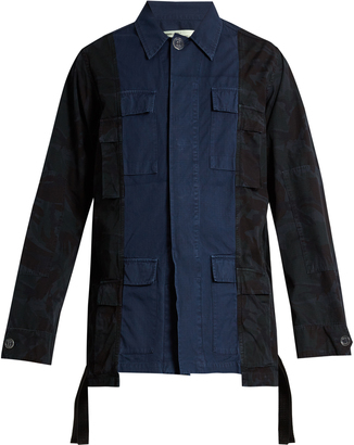OFF-WHITE Panelled cotton-canvas field jacket $890 thestylecure.com