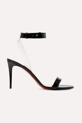 Christian Louboutin Jonatina 85 Pvc-trimmed Leather Sandals - Black