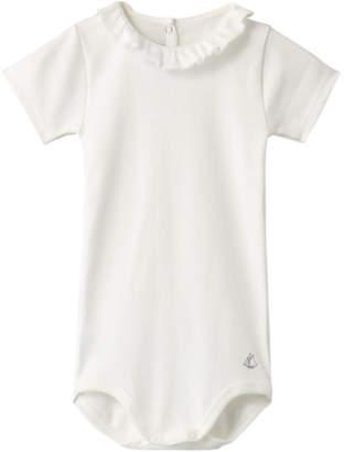 b956e86acab95 Petit Bateau (プチ バトー) - プチバトー フリル衿つき半袖ボディ