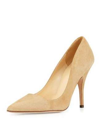Kate Spade New York Licorice Suede Point-Toe Pump, Light Camel $298 thestylecure.com