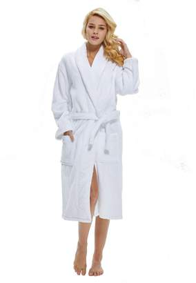 2566236957 beryris Luxury Bathrobe for Women - Women s Terry Cloth Robe in Bamboo  Viscose