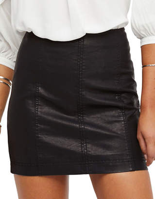 Free People Modern Femme Vegan Mini Skirt
