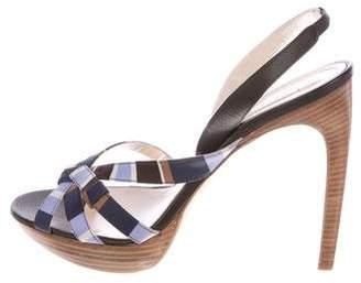 Celine Stripe Slingback Sandals w/ Tags
