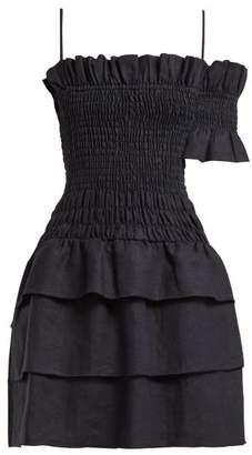 Sir - Mariele Smocked Mini Dress - Womens - Navy
