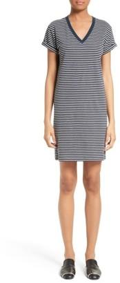 Women's T By Alexander Wang Stripe T-Shirt Dress $150 thestylecure.com