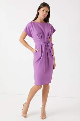 Closet Womens Shaped Waistband Dress - Purple
