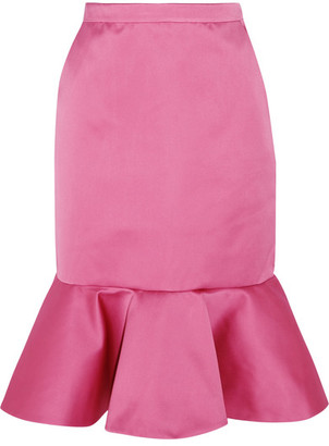 J.Crew - Dante Ruffled Duchesse-satin Skirt - Pink $275 thestylecure.com