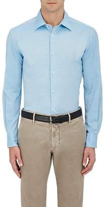 Piattelli MEN'S COTTON PIQUÉ DRESS SHIRT