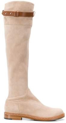 Ermanno Scervino buckle strap knee high boots