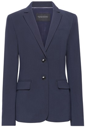 Banana Republic Long and Lean-Fit Machine-Washable Italian Wool Blend Blazer