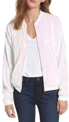Paige Hayley Sparkle Bomber Jacket