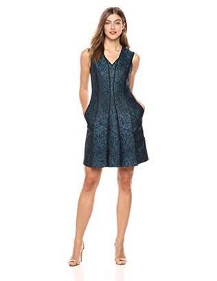 Elie Tahari Women's Metallic Jacquard Tameeka Dress