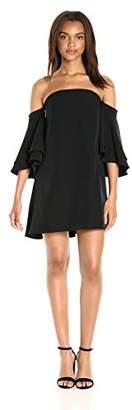 Milly Women's Double Flutter Sleeve Dress