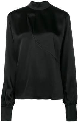 David Koma chest cut-out detail blouse