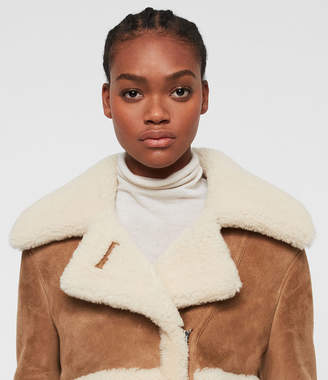 AllSaints Farley Shearling Jacket