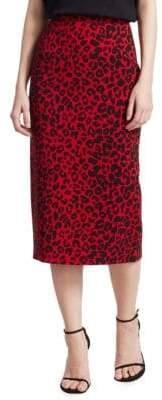 No.21 No. 21 Leopard Print Pencil Skirt